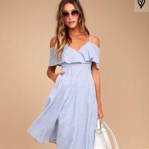 Lulu's Yacht  Rock Blue & White striped Dress